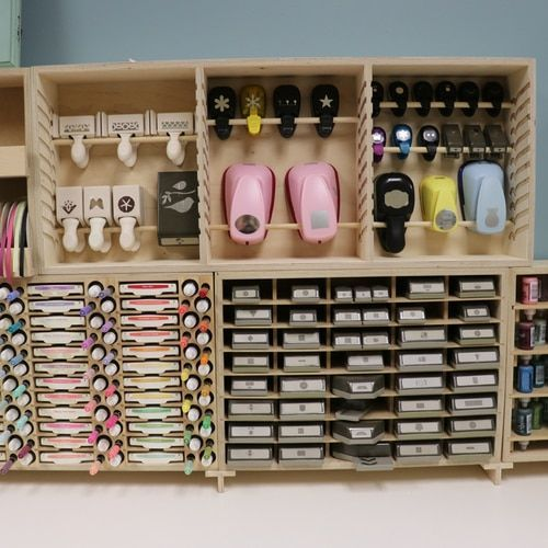 Punch Rack Craft Room Scrapbook Room Organization Paper Punch Storage