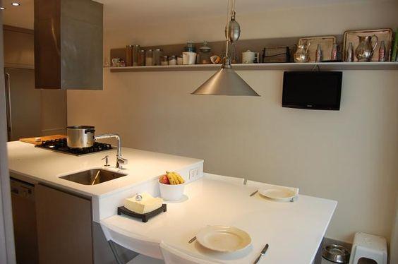 Isla con mesa cocinas pinterest mesas - Cocinas con mesas ...