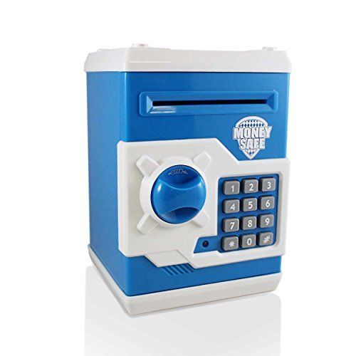 and Jewelry Inside Safe Inside Cool Piggy Bank Makes A Great Birthday Gift Toys Safe Coin Bank For Kids Auto Insert Bills and Electronic Password Authentic ATM Money Saver Keeps Cash