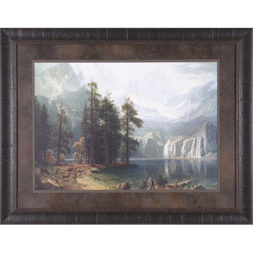 Found it at Wayfair - Sierra Nevada by Albert Bierstadt Framed Painting Print