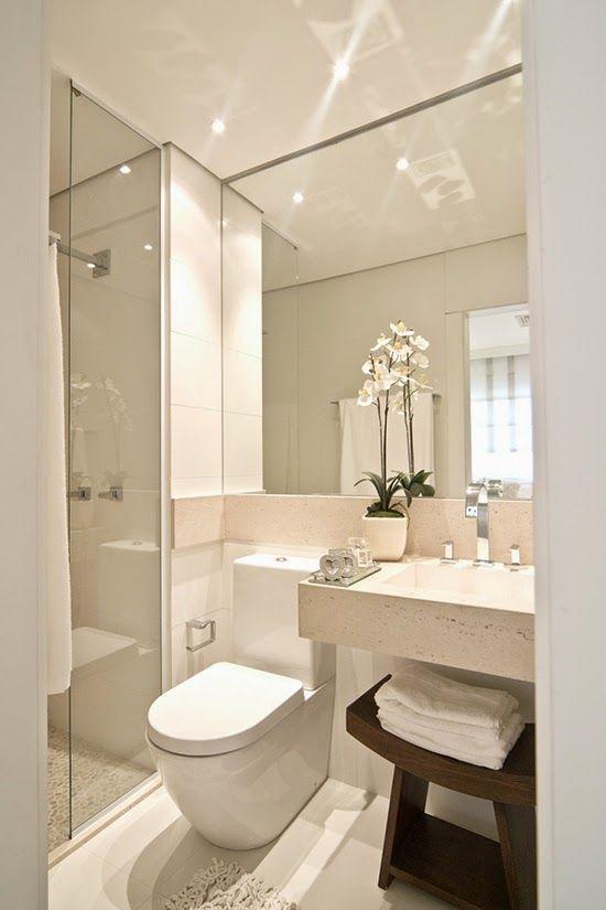 The same arrangement as what I would like in our bathroom. Ideas Deco: SACA EL MÁXIMO PARTIDO A TU BAÑO MINI
