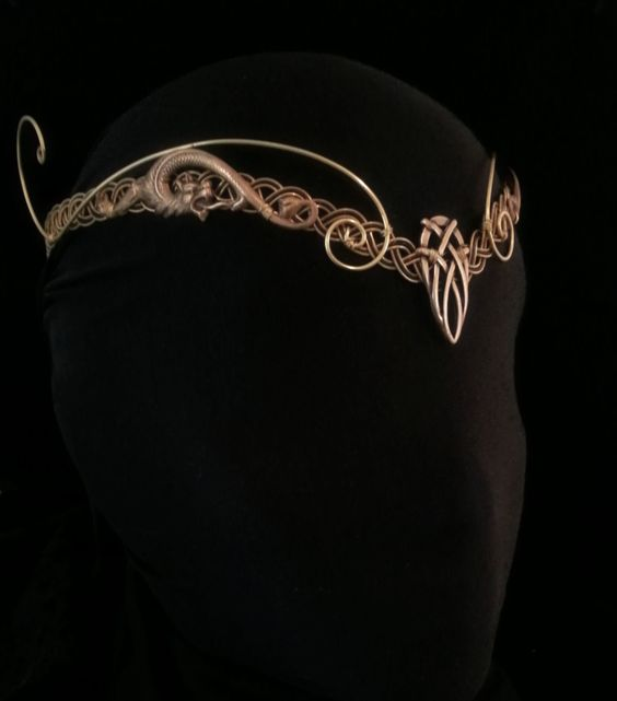 Medieval elven Pagan Viking crown tiara circlet headpiece tiara celtic  Dragon larp
