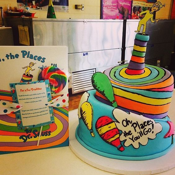 Oh The Places You Ll Go Drseuss Cakes Cakesofinstagram Ohtheplacesyoullgo Cak Dr Seuss Birthday Party Boys First Birthday Party Ideas Baby Birthday Party
