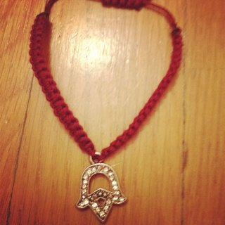Hamsa / Hand of Fatima Inspired Charm Bracelet by GrandeStrands, $8.50