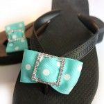 Cute (Cheap!) ribbon flip flops! Order form in link.