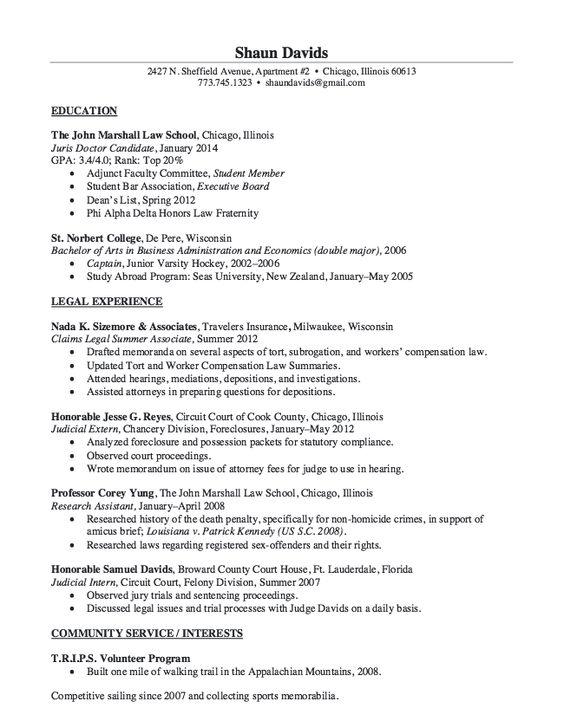 Judicial Intern Resume Sample - http\/\/resumesdesign\/judicial - park ranger resume