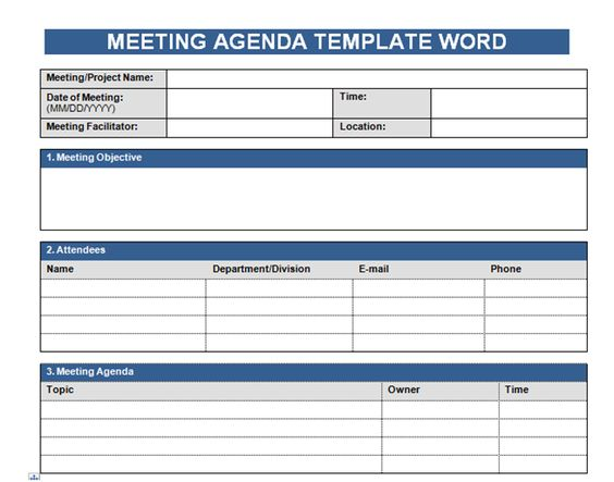 Get Free Meeting Agenda Template In Word http\/\/wwwcrunchtemplate - Meeting Agenda Word