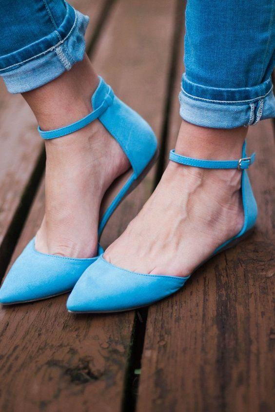 awesome Модные синие туфли (50 фото) — Оригинальные и интересные сочетания