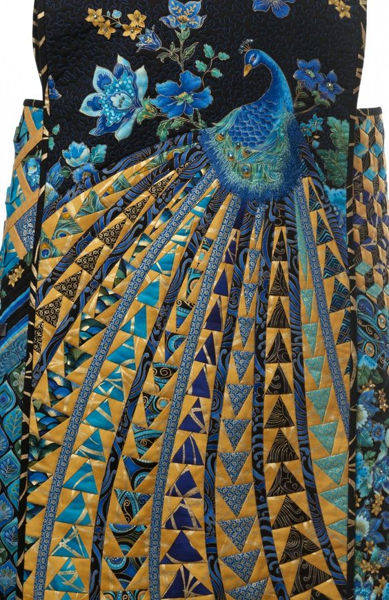 "Rami Kim's ""Queen Peacock""... I don't have an OMG Quilt Board.  But if I did this would be on it.   xxxx"