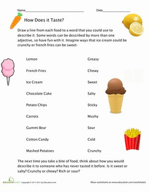 Printables Grammar Worksheets Third Grade food adjectives vocabulary third grade and worksheets grammar worksheet