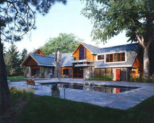 Modern country house stones hybrid timber frame 1 500x399 on