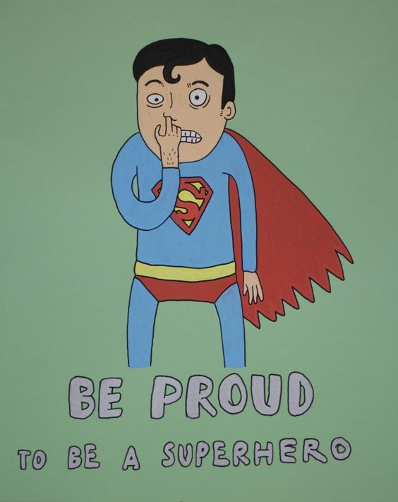 Laurina Paperina - Proud to be a Superhero - 2014 - Mixed media on paper - 30 x 24 cm - © Mazel Galerie