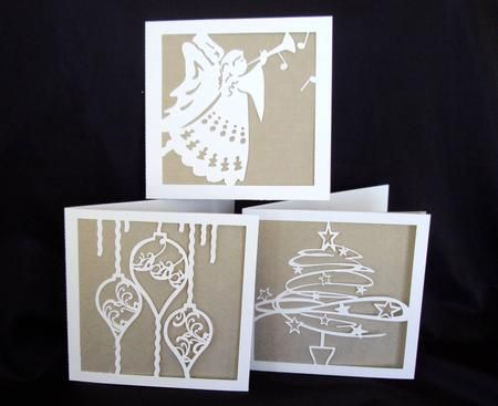 A set of easy to make Christmas cards.