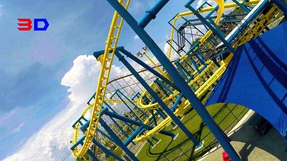 Freedom Flyer 3D front seat on-ride HD POV @60fps Fun Spot America, Orlando
