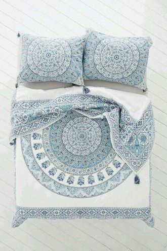 home accessory bed sheet or bed spread pajamas bedding bohostyle 3d comforters duvets home decor boho bohemian hippie duvet blankets indie hipster white blue house bedroom teen room bedsheets blue bedding white bedding printed bedding pillow designed designed pillows