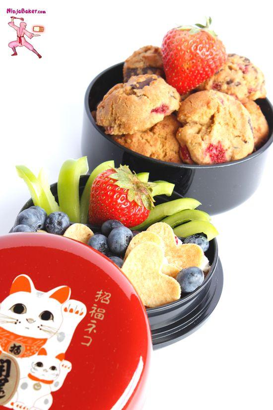 Misty's Strawberry Bento Adventure & Gluten-Free Strawberry Cookie Recipe  #glutenfree #Japanese #bento