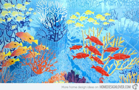 Amazingly Beautiful Pool Mosaic Ceramic Tiles from Craig Bragdy ...