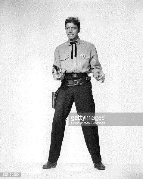 Photo d'actualité : American actor Burt Lancaster as Marshal Wyatt...