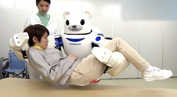 Welcome your new job takers and caregivers. The coming decade will see societies transform as humans learn to live alongside robots. Tokai Rubber Industries,and the Japanese research institute RIKEN, has unveiled the Robot for Interactive Body Assistance (RIBA), which can pick up and set down humans up to 175 pounds and is designed for patient comfort: it resembles a giant smiling bear and is covered in a soft skin to guard against injury or pain.  18.5. 2016,  www.nco.is IoT, www.netkaup.is: