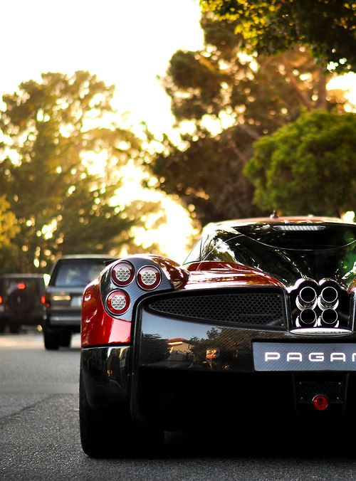 The lovely rear end of a Pagani