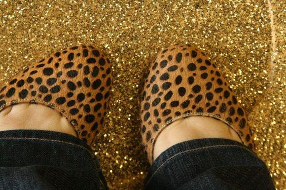 OMG: A Gold Glitter Floor