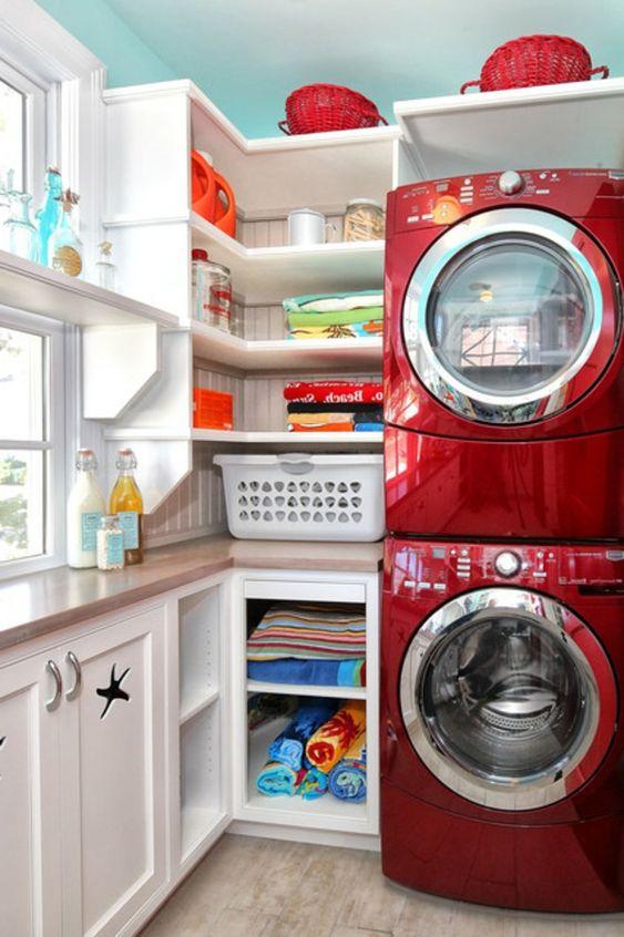 zeitgen ssische smart w schereir ume waschmaschine rot. Black Bedroom Furniture Sets. Home Design Ideas