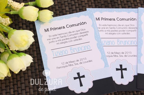 Invitaciones primera comuni n var n invitacion - Invitaciones comunion busquets ...