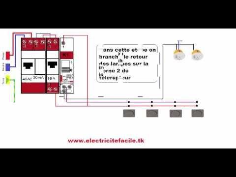 Schéma électrique Branchement Raccordement Installation