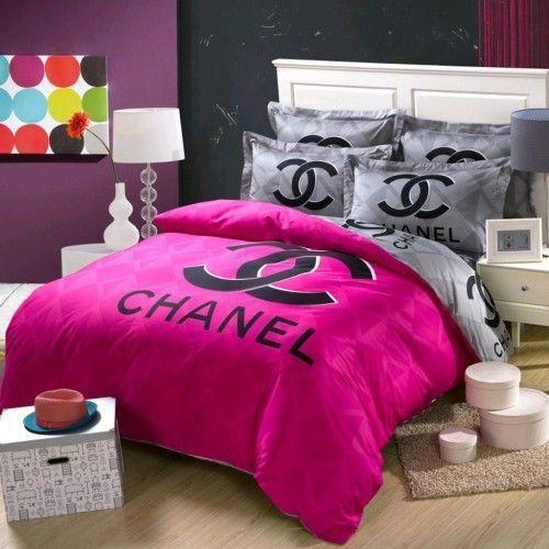 Modern Bedding Bedding Modern Remodelagetacha In 2020 Chanel Bedding Chanel Room Bedding Set