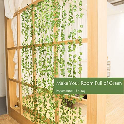 Faux Ivy Curtains Greenery Decor Ivy Wall Artificial Ivy Wall