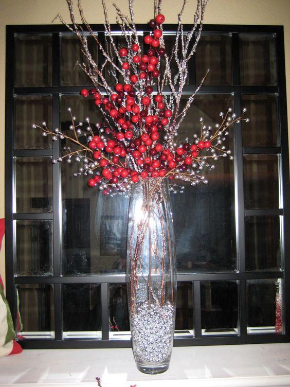 Christmas mantel floral arrangement