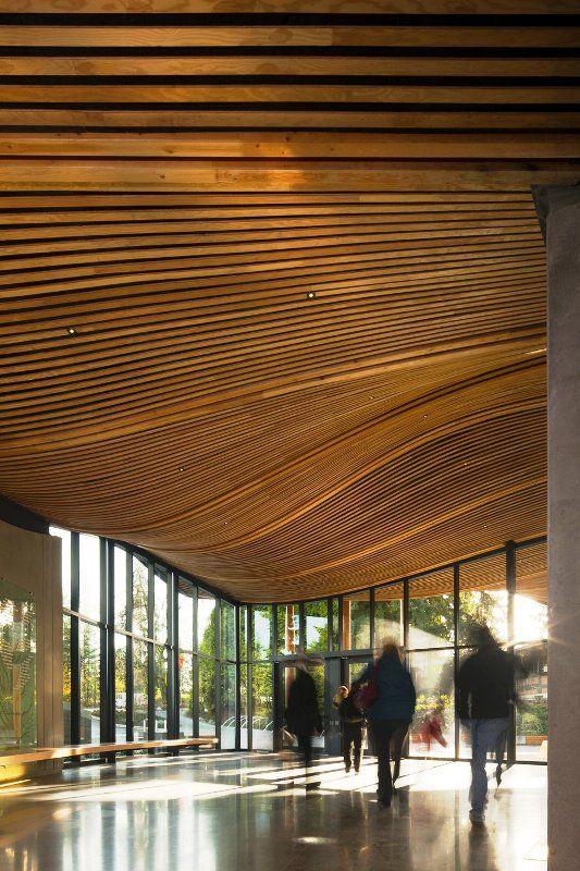The wonderous interior inside the Visitor Center at VanDusen Botanical Garden.