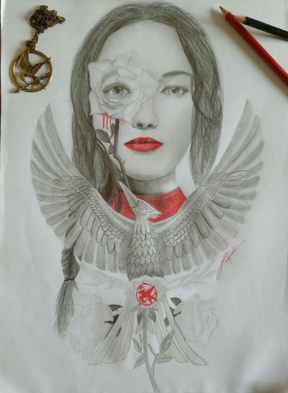 Mockingjay poster sketched by Kalyani Chitre (that's me. Haha)