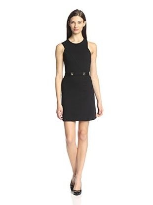Versace Collection Women's Sleeveless Belted Dress (Black)