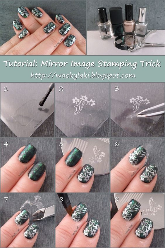 Wacky Laki: Tutorial Tuesday: Mirror Image Stamping Trick