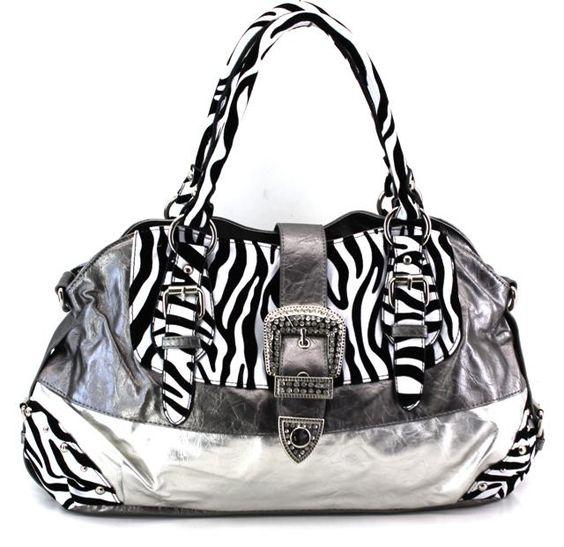 Zebra Hand bag  www.ladiesfashionbag.com