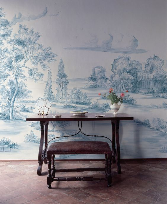 COME ENJOY Peaceful Timeless Trompe-l'oeil Wall Murals to Inspire!