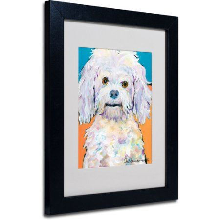 Trademark Fine Art Lulu Matted Framed Art by Pat Saunders, Size: 11 x 14, Multicolor