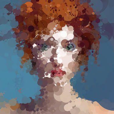 "Saatchi Art Artist Hugo Valentine; Painting, ""Olivia - Not as posh as she looks [Limited Edition 1 of 1]"" #art"