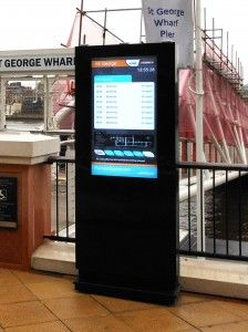 outdoor digital signage enclosure