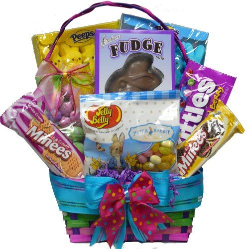 Pinterest the worlds catalog of ideas art of appreciation gift baskets bunny treats cookie and candy easter gift basket small negle Images