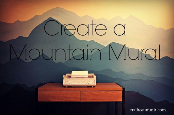 Make your own mountain inspired mural in an afternoon for Create your own wall mural photo