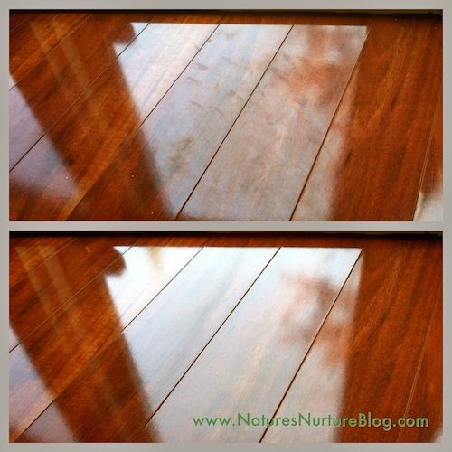 Clean laminate and wood floors  Equal parts water, vinegar, alcohol, & a few drops of dish soap