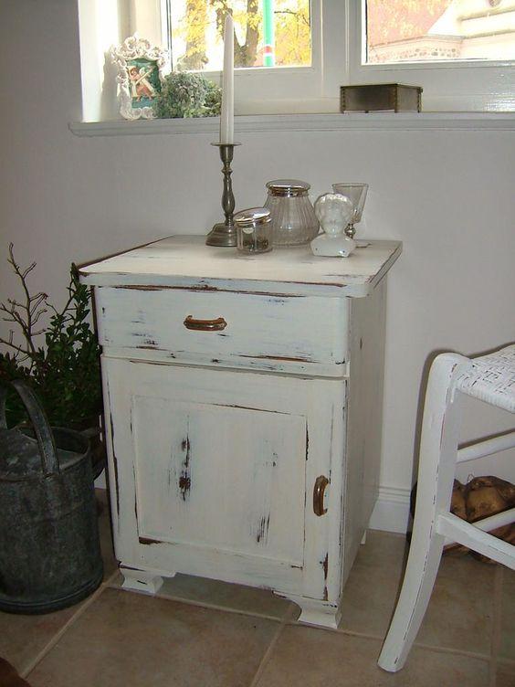 Kommode Nachtschrank 40er vintage danske Shabby Chic (Schlafzimmer ...