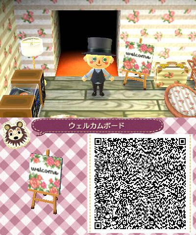 small welcome sign tile animal crossing new leaf qr code