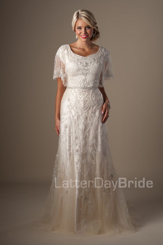 Day bride dream dress modest dresses dresses with sleeves art deco