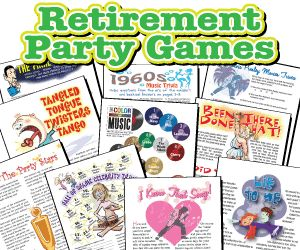 This is an image of Critical Retirement Party Games Free Printable