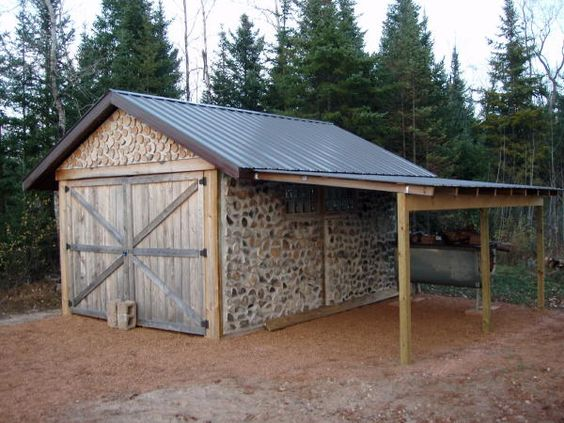 Campers wood shed plans and shed plans on pinterest for Garage lean to plans
