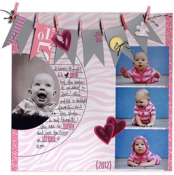 girly, pink, funny, stripes - Scrapbook.com