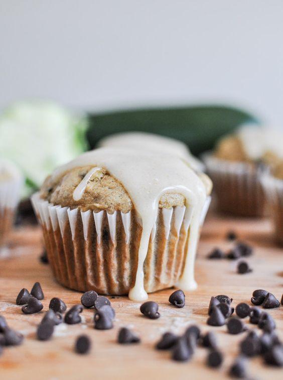 whole wheat zucchini banana chocolate chip muffins